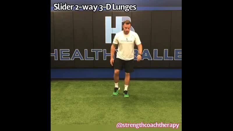 Hip Labrum 5 Slider 2 way 3 D Lunges