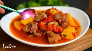БОЖЕСТВЕННО вкусное МЯСО просто тает, такое оно МЯГКОЕ! Рецепт говядина с овощами - Хашлама
