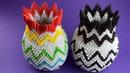Как сделать красивую вазу из бумаги оригами из модулей Пошаговая сборка мастер класс