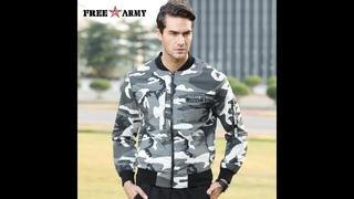 Мужская камуфляжная куртка freearmy, черная облегающая куртка в стиле милитари, в стиле хип хоп