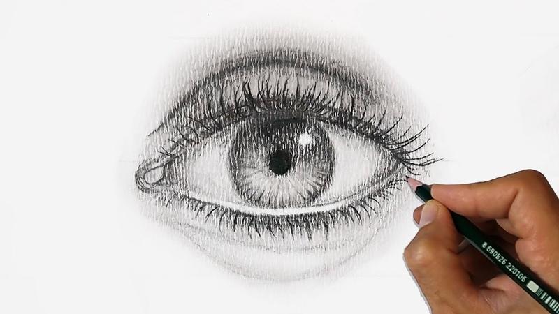 GÖZ NASIL ÇİZİLİR? Hatasız Göz Çizme Tekniği Karakalem adım adım hiperrealizm göz izimi