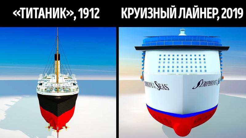 Титаник и современные круизные корабли в сравнении