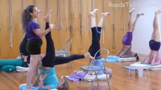 Halasana & Salamba Sarvangasana   with Lois Steinberg, Certified Iyengar Yoga Teacher Advanced 2