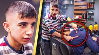 Young BUT PROFESSIONEL    YOUNG BARBER DOING ASMR MASSAGE