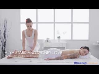 Alya Stark, Sydney Love - 69 Facesitting Lesbians Oil Massage [Lesbian]