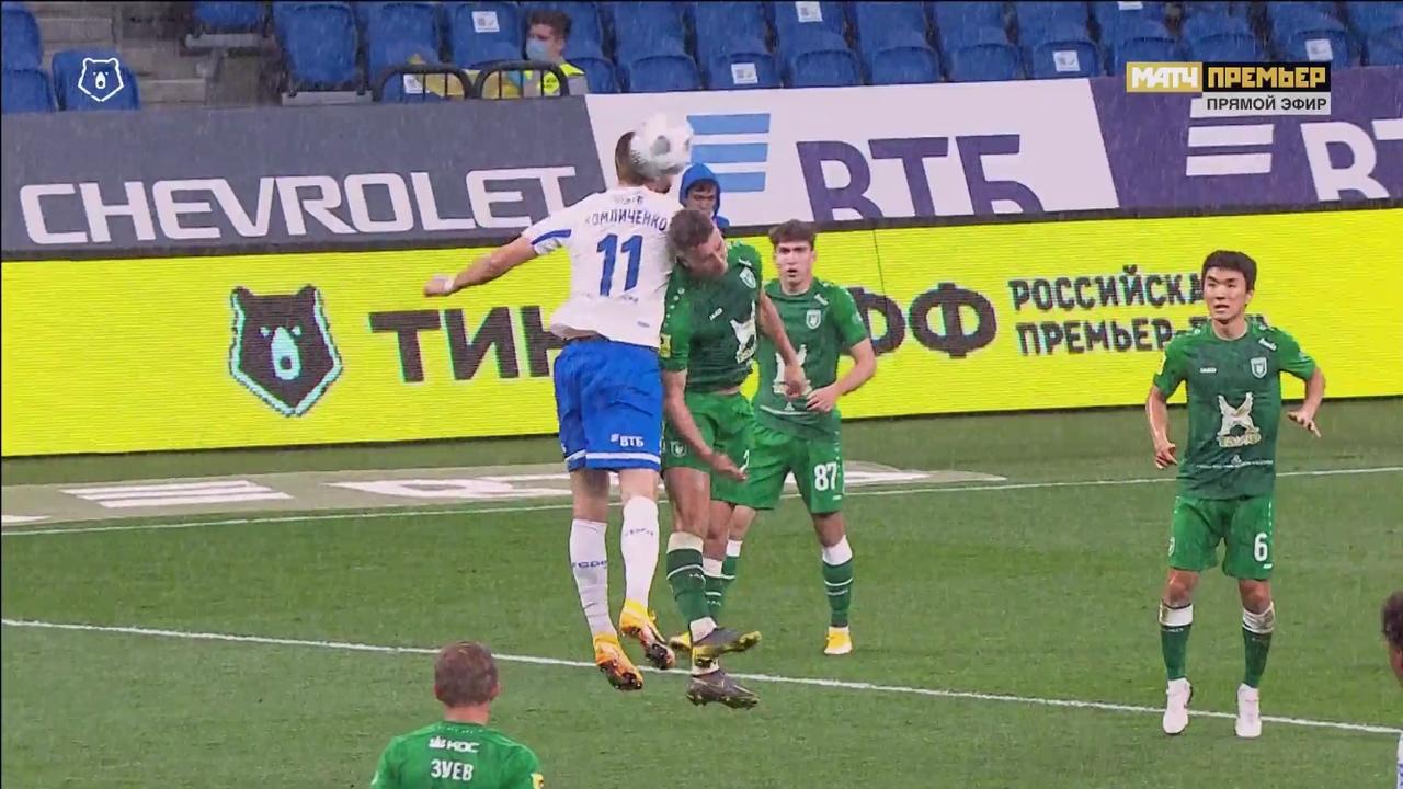 Динамо - Рубин, 0:1. Удаление Комличенко