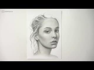 Как нарисовать портрет карандашом. Для начинающих - от эскиза до завершения работы