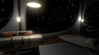 Starship Cozy Lounge Ambience 10 hours | White noise | Sleep, Study, Meditation