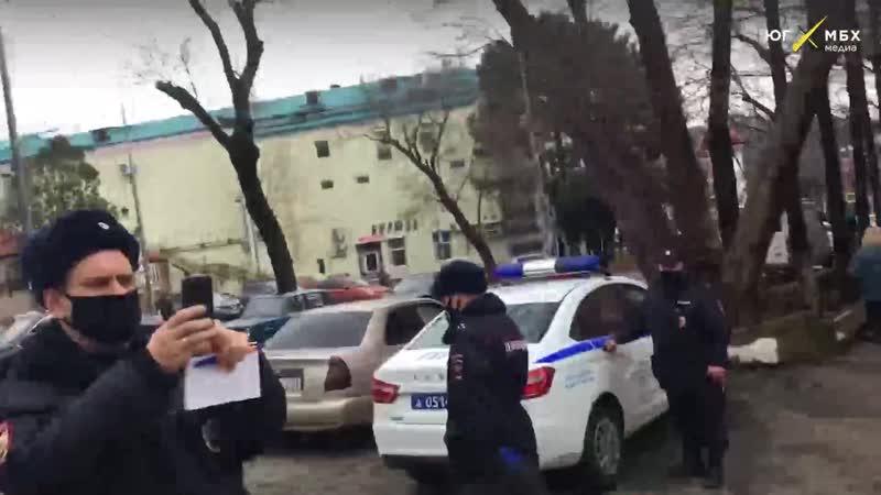 Полиция сорвала одиночный пикет в Туапсе