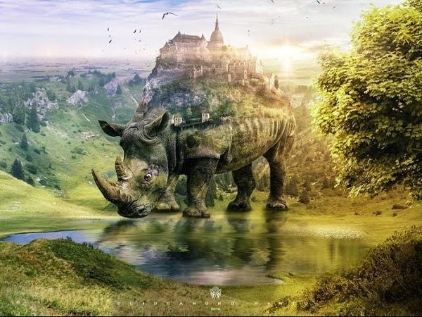 Speed Art Photoshop Create a Surreal Rhino 2