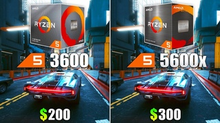 Ryzen 5 5600X vs Ryzen 5 3600 - Test in 10 Games
