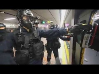 Chinese Police Brutality in Hong Kong Subway