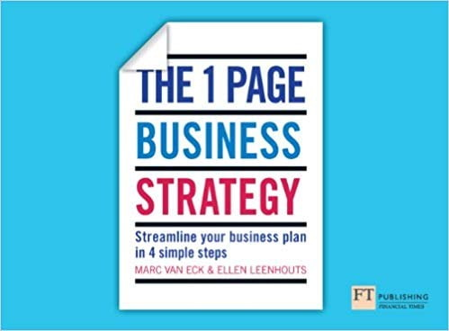 One Page Business Strategy  Streamline Your Business Plan in Four Simple Steps