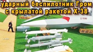 Беспилотник Гром вооружат крылатой ракетой Х 38 с дальностью 70 км генералы НАТО держат дистанцию
