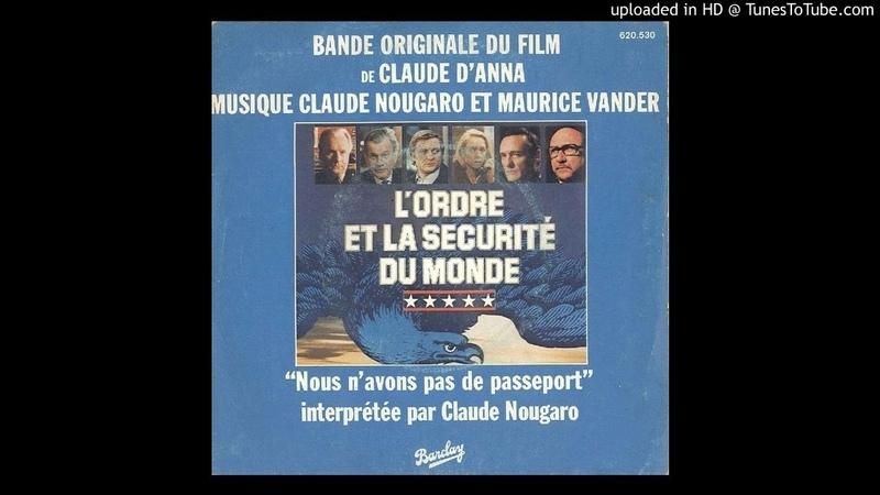 GENERIQUE HOTEL MINABLE B O F L'ORDRE LA SECURITE DU MONDE Maurice Vander