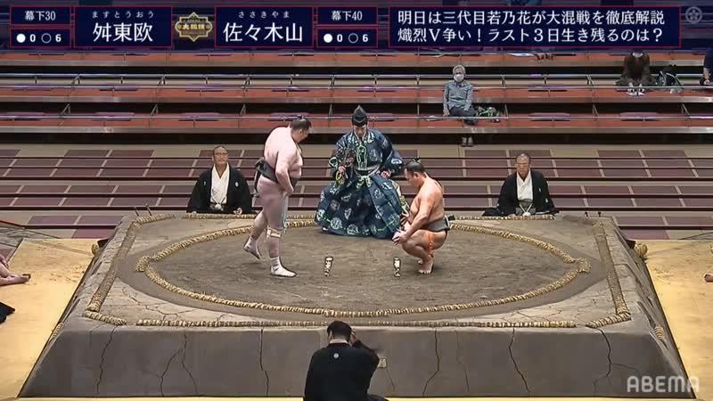 Masutoo(Ms30e) vs Sasakiyama(Ms40e) - Aki 2020, Makushita - Day 13