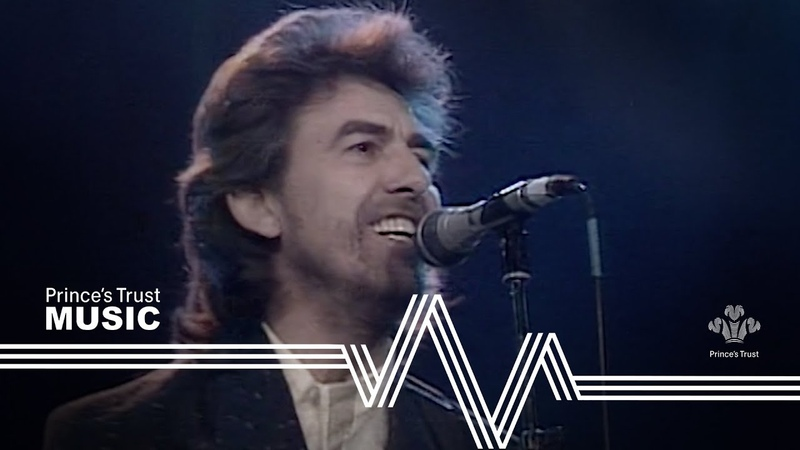 George Harrison Ringo Starr While My Guitar Gently Weeps The Prince's Trust Rock Gala 1987
