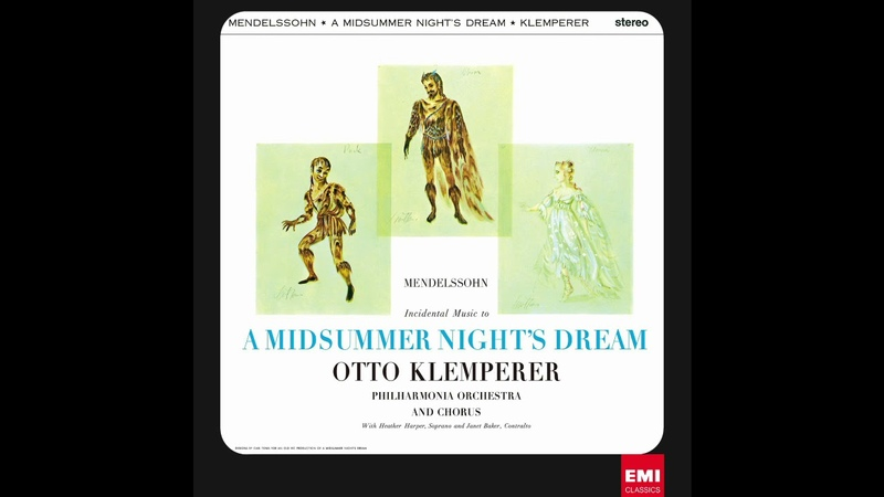 Mendelssohn Incidental Music To A Midsummer Night's Dream 1960 2012