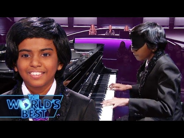 Prodigy Pianist Lydian Aces Mozart Blindfolded - The World's Best Battle Rounds