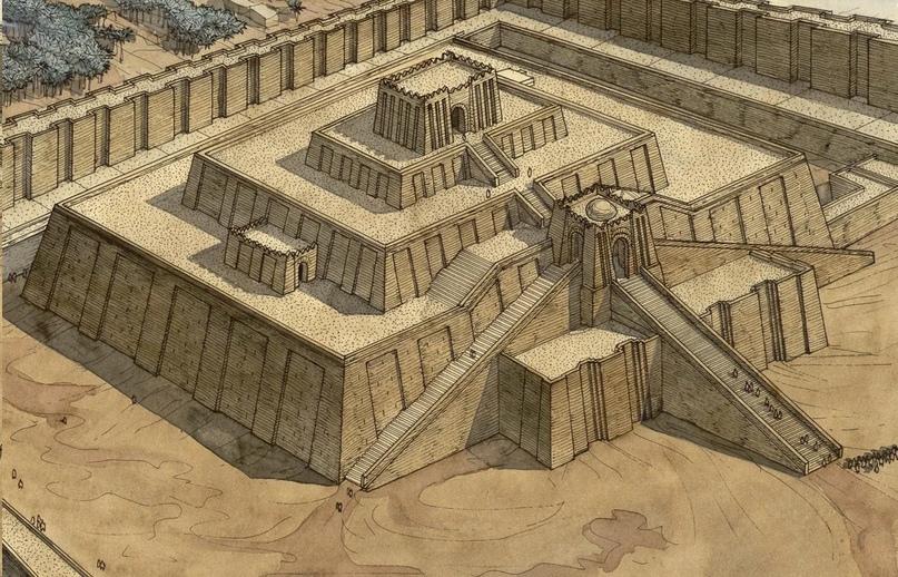 Зиккурат Ура - о древнем огромном зиккурате, найденном в Месопотамии