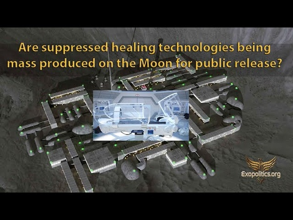 Are suppressed healing technologies being mass produced on the Moon for public release