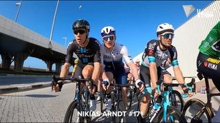 On-bike cam captures UAE Tour chaos