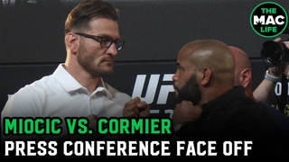 Stipe Miocic vs. Daniel Cormier Face Off | UFC 252 Press Conference