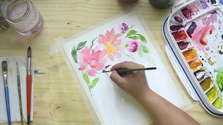How to paint loose florals with watercolor