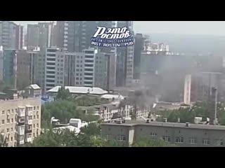 Пожар на крыше дома на Соколова, 64 -  - Это Ростов-на-Дону!