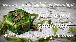 Zielone pudełko Kwiat paproci