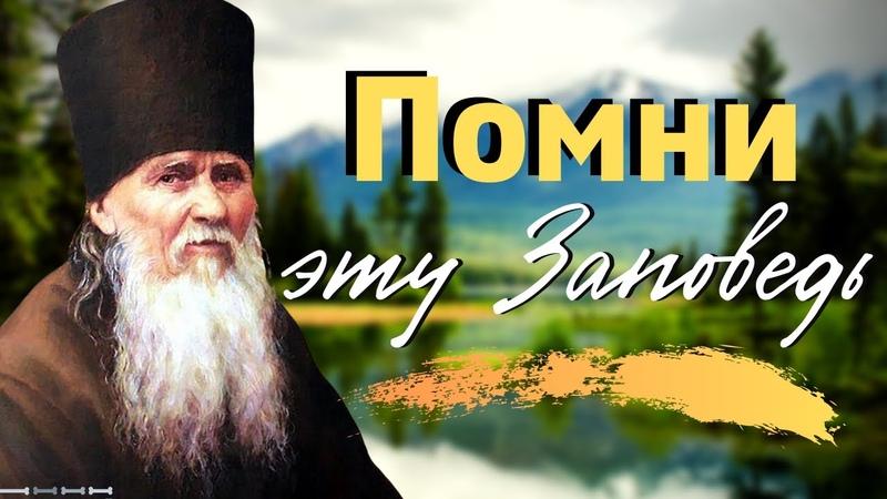 ПОМНИ эту Заповедь и исполняй её Преподобный Амвросий Оптинский