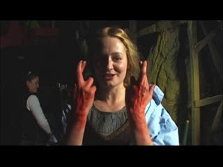 Miranda Otto on set of The Lord of the Rings: The Two Towers rus sub