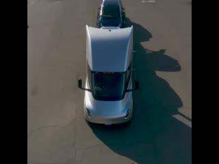Tesla semi loaded up