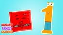 Изучаем цифру 1 ОДИН Развивающие мультики для детей 0-5 лет.