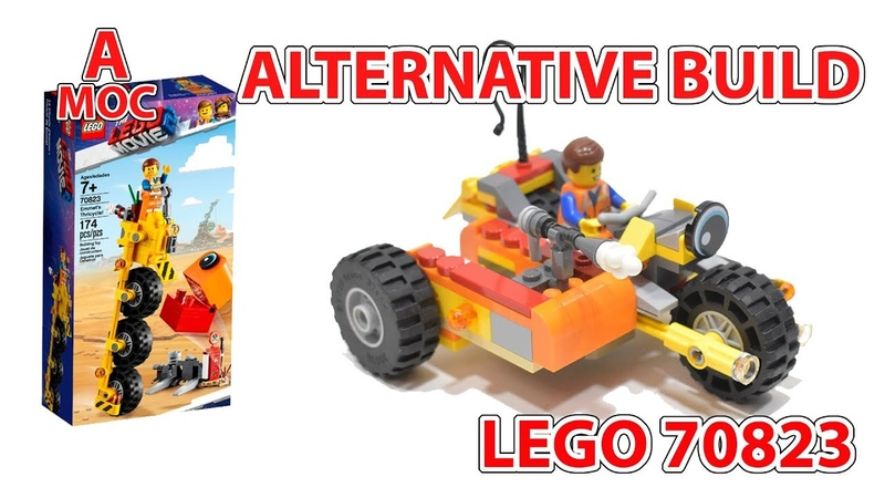 LEGO 70823 Emmet's post apocalyptic Motorcycle with sidecar and machine gun [A MOC]