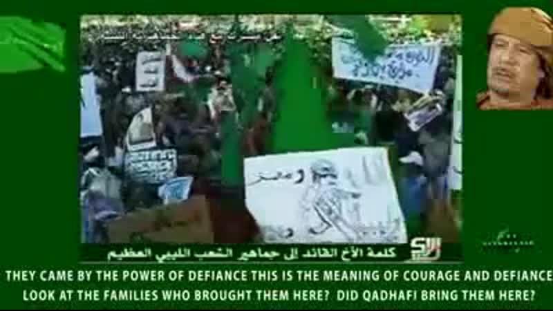 LIBYE Discours KADHAFI 01.07.2011 Tripoli contre limpérialisme