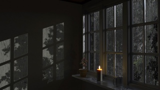 Rain On Window with Thunder Sounds - Rain in Forest at Night - 10 Hours Relaxation and Sleep