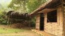 Primitive technology Furnace palm leaf roof hut Part 1