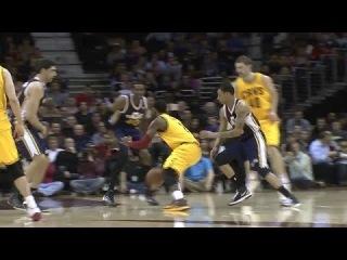 Kyrie Irving's No-look Dish to Tyler Zeller | Jazz vs Cavaliers | February 28, 2014 | NBA 2013-2014