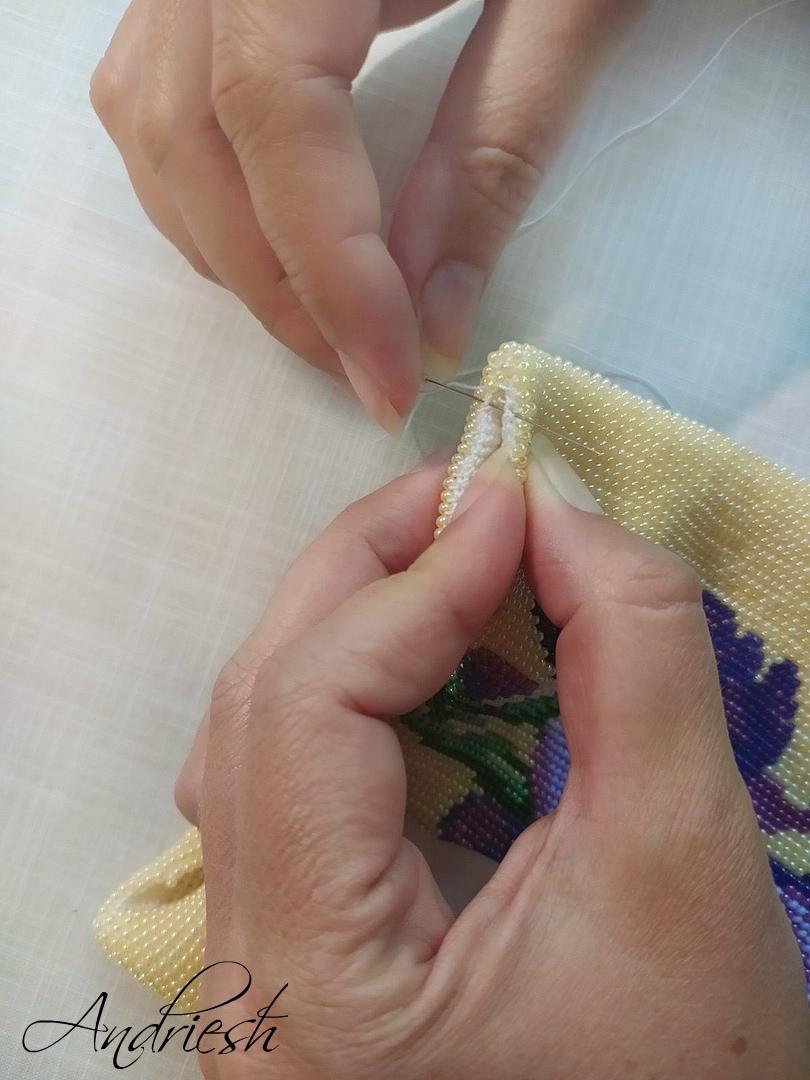 Как я сшиваю донышко и вшиваю в сумки подклад и фермуар., изображение №4