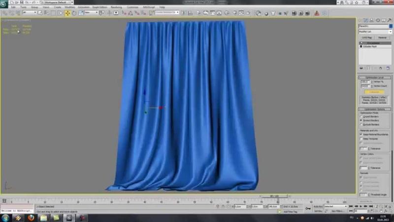 Создание шторы или занавески в 3D Max