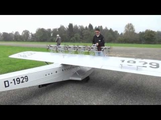 Biggest Rc Dornier Do-X Airliner Very Big Scale with 12 Engines at Hausen am Albis Flugtag 2014