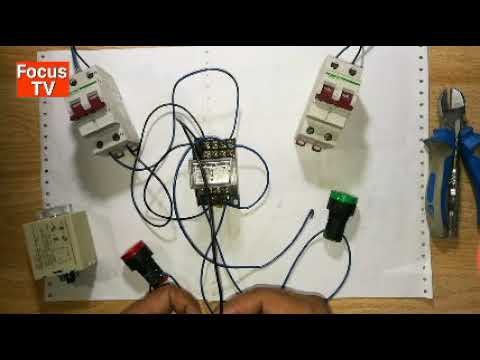 How to control and power wring of simple auto transfer switch with timer relay
