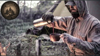 2 DAYS SOLO BUSHCRAFT - ALONE in the WILD - FISHING - COOKING - TEPEE TENT CAMPING - SCANDINAVIA