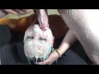 Трахает глотку жены до рвоты - Abuse, Blowjob, Deepthroat, Facefuck, Facial, Gagging, MILF, Oral, Sex, Puke, Vomit, Wife