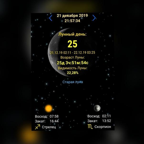Диета 25 лунный день
