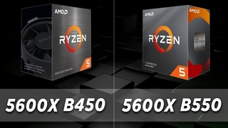 Ryzen 5600X (B450 vs B550)