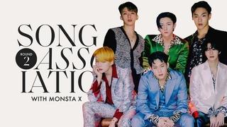 "MONSTA X is Back for Round 2 of Song Association, Sings 24kGoldn, Frank Ocean & ""Love Killa""   ELLE"