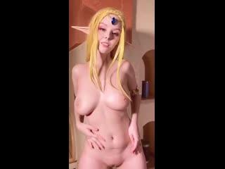Прекрасная Helly von Valentine (Disharmonica) голая сиськи cosplay porn nude tits pussy boobs