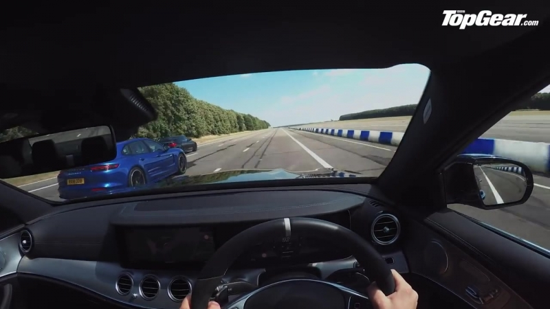 BMW M5 vs Mercedes AMG E63 S vs Porsche Panamera Turbo S Drag Races Top Gear